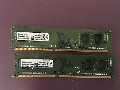 2x Kingston KVR13S9S6/2 DDR3 10600 CL9 RAM