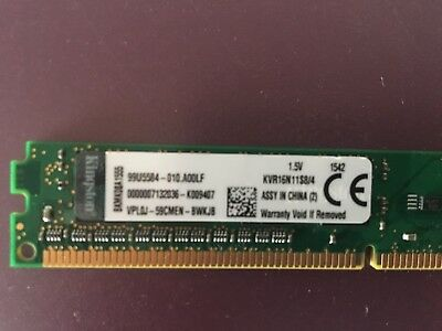 Kingston KVR16N11S8/4 (4GB, PC3-12800 (DDR3-1600), DDR3 SDRAM, 1600 Mhz, DIMM 24