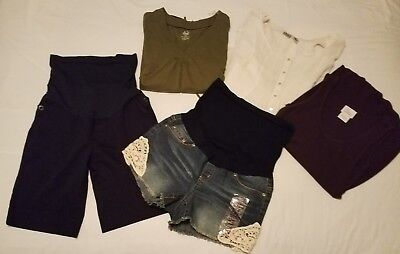 Lot of 5 Maternity~ summer ~ clothing size SMALL