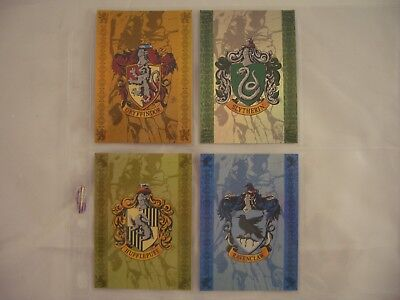 Harry Potter & The Prisoner of Azkaban House Badges BT1-BT4 Trading Card Set