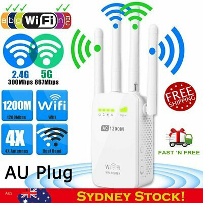 300/1200Mbps 5G Dual Band Wireless Range Extender WiFi Repeater 0/2/4 Antenna P8