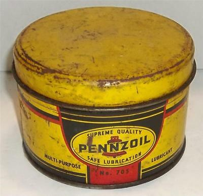Vintage Pennzoil Safe Lubrication Tin Can  No.705