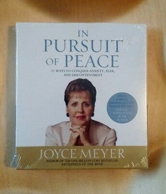 In Pursuit of Peace Audio Book 5 CDs Joyce Meyer NEW 21 Ways to Conquer Anxiety,