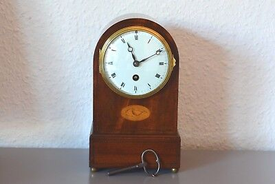 Ch Vcne Paris Victorian, Antique, Inlaid mantle clock. Made in France. Restored.