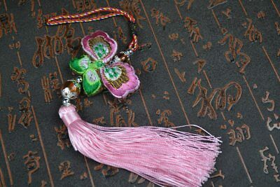 Chinese Feng Shui Butterfly Charm,Car hang, Good Fortune, Wealth, Gift,Purple