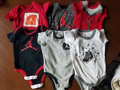 17 pieces of Michael Jordan baby clothing