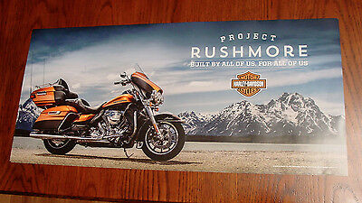 NEW 2014 2015 2016 Harley Davidson Project Rushmore Poster Touring Motorcycle