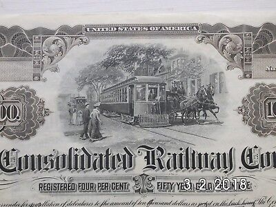 The Consolidated Railway Company.   2.4.1906,   US$ 10.000, Historisc