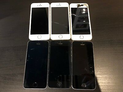 Wholesale LOT of (6) iPhone 5/5s AS IS with FREE Shipping