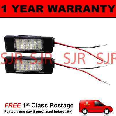 2x Peugeot 408 Bright Xenon White Superlux LED Number Plate Upgrade Light Bulbs