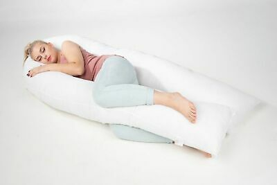 9ft U Pillow Duck Feather & Down Extra Fill Comfort Back Neck, Pregnancy Support