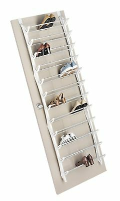 be90e84d50e Whitmor Over The Door Shoe Rack - 36 Pair - Fold Up Non Slip Bars 36