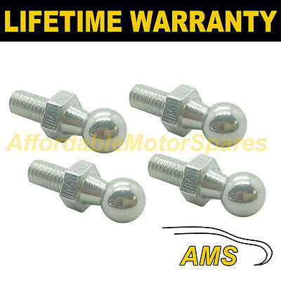 4X Gas Strut End Fittings 10Mm Ball Pin Silver Multi Fit Gsf47