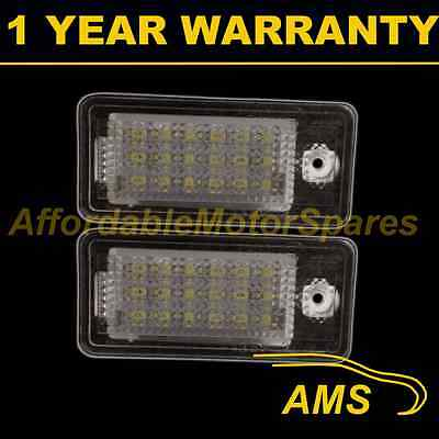 2X For Audi Q7 Rs4 Rs6 Avant Quattro Xenon 6500K 18 White Led Number Plate Lamps