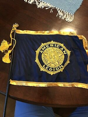 Original Vietnam War Era Pennsylvania Silk Flag & American Legion Silk Flag Set