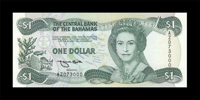 "1974 (1984) BRITISH COLONY BAHAMAS QEII $1 Replacement Prefix ""AZ"" (( GEM UNC ))"