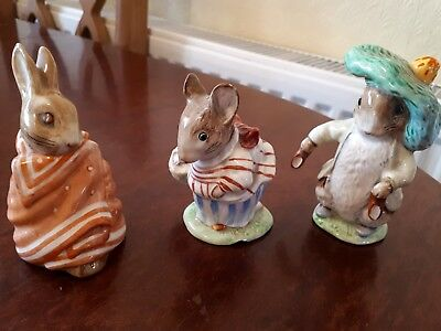 3  Beswick Beatrice Potter Figurines