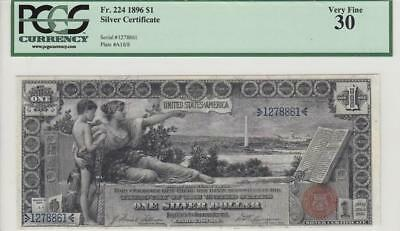 """1896 United States **education Note** $1 """"rare"""" (( Pcgs 30 ))"""