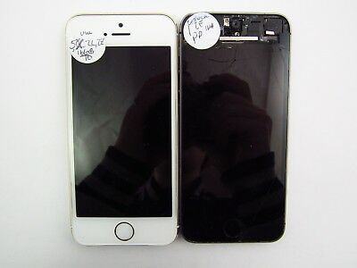 Lot of 2 Parts & Rep. Apple iPhone 5S 16GB A1533 UNL Carrier Check IMEI 5PR 606