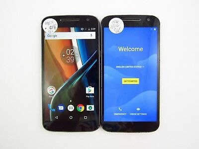 Lot of 2 Motorola G4 XT1625 Unknown Carrier Check IMEI 5 Grade C 499
