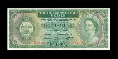 1.1.1976 BRITISH COLONY BELIZE / HONDURAS $1 **Consecutive 1 of 2** (( EF ))