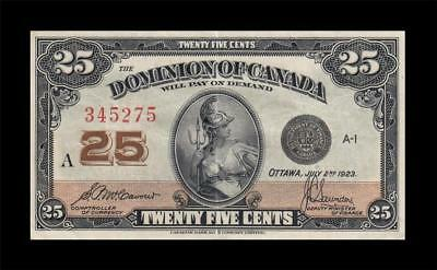 1923 DOMINION OF CANADA 25 CENTS **Saunders** (( EF ))