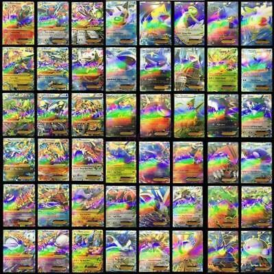 Newest Pokemon 100 CARD LOT RARE 20 MEGA FLASH Holo CARDS+80 EX CARDS NO REPEAT