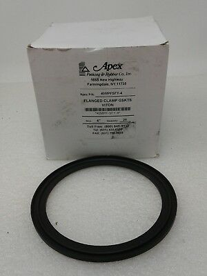 "Apex Flanged Clamp Gaskets Vition , 40MPF-SFY-4  4"" Z(25 count)"