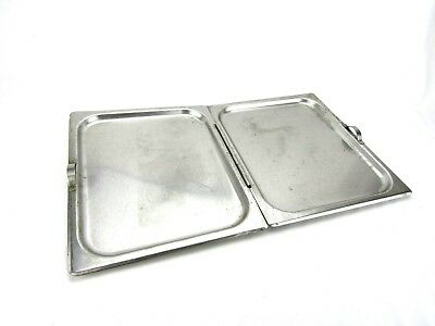 "Stainless Steel Hinged Lid Cover for Full Sized Steam Table Pans 21 L x 13"" W"