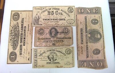Antique Lot Confederate States Of America Currency