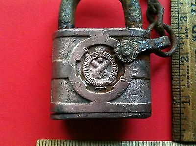 Vintage YALE Padlock Ordinance Department U.S. Army Military Antique