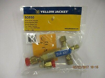 Yellow Jacket 93850 SuperEvac Vacuum Pump Manifold