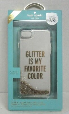 new products 4a6a9 117e2 KATE SPADE LIQUID Glitter Case iPhone 8/7 - Glitter is My Favorite Color