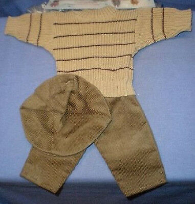 Puppenkleidungsset beige/oliv 40/clothing set fawn/olive 40