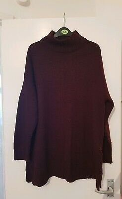 Women's New Look Maternity Maroon Jumper Size Large