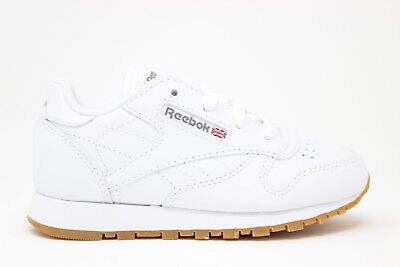 cf7dede01b51 KIDS  TODDLER REEBOK Classic Leather Casual Shoes White Gum V69626 ...