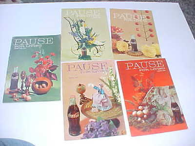 Pause for Living Coca Cola Magazines (5) Advertising from early to mid 1960s