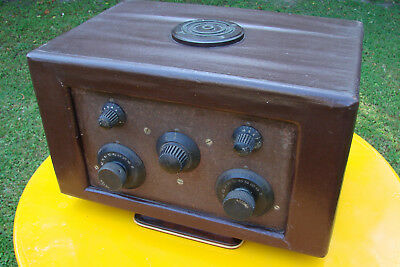 Poste Radio Tsf Ll Super-Baby A 5 Lampes A Batterie