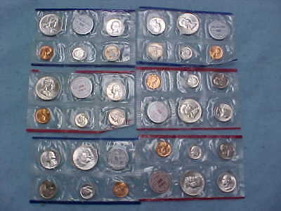 One 1959, And Two 1960  Silver  Us Mint Sets In Original Mint  Sleeves
