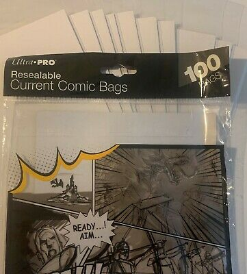 10 Pre Made Ultrapro Current Resealable Comic Book Bags And Boards Acid Free
