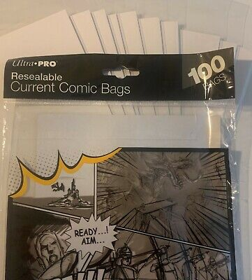 Pre Made Ultrapro Current Resealable Comic Book Bags And Boards 2 Mil Acid Free