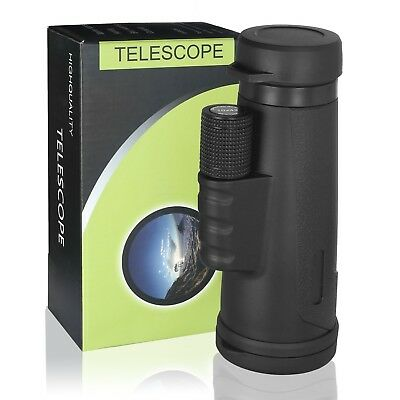 High Power 10X42 HD Eyepiece Monocular Telescope with Phone Clip and Tripod, ...
