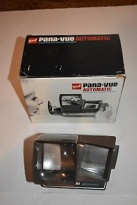 VINTAGE GAF Pana-Vue Automatic Lighted 2x2 Slide Viewer, Holds 36 Slides, TESTED