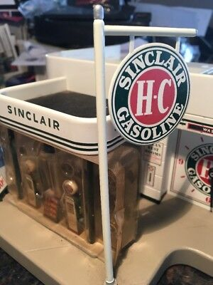 The Danbury Mint Sinclair Gasoline Station Vintage - What's Included is MINT CON