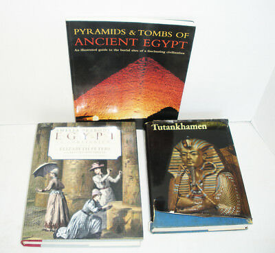 2 books Lot Tutankhamen Life/ Death of a Pharaoh, Amelia Peabody's Egypt & a 3rd