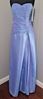 Jordan Caterina Collection  Dress 6006 Taffeta Size 10 Periwinkle In Color Nwt