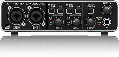 Behringer UMC202HD USB Computer Interface w/ Midas Preamps - Ships FREE U.S.