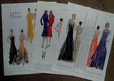 3 FASHION PAGES from vintage 1929 McCALL'S MAGAZINE - FRAME THEM