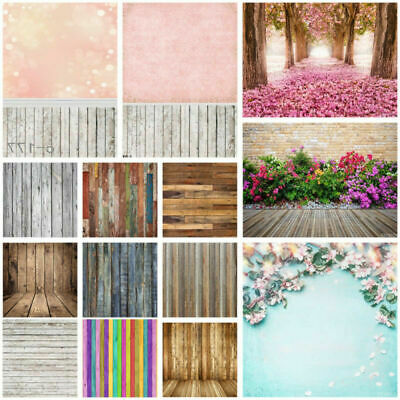 3x5/5x7FT Romantic/Retro/Plank/Flower Wall Background Photography Backdrops