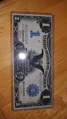 Stunning 1899 1 black eagle silver certificate about uncirculated very crisp